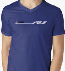 Yamaha R1 Design White Men's V-Neck T-Shirt