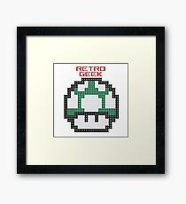Retro Geek - One Up Framed Print
