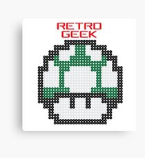 Retro Geek - One Up Canvas Print