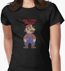 Retro Geek - Mario Womens Fitted T-Shirt