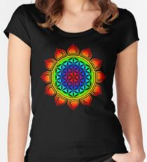 Flower of life - Lotus, healing & energizing Women's Fitted Scoop T-Shirt
