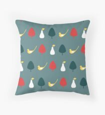 Partridge & Pear Tree Throw Pillow