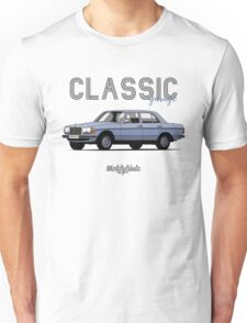 Mercedes-Benz E-klass (W123) (light blue) Unisex T-Shirt
