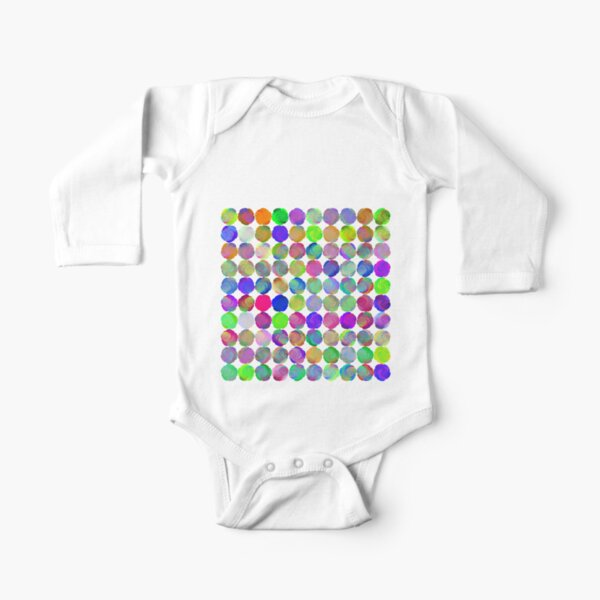 Space snowballs #fractal art Long Sleeve Baby One-Piece