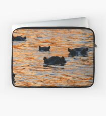 A hippo sunset! Laptop Sleeve