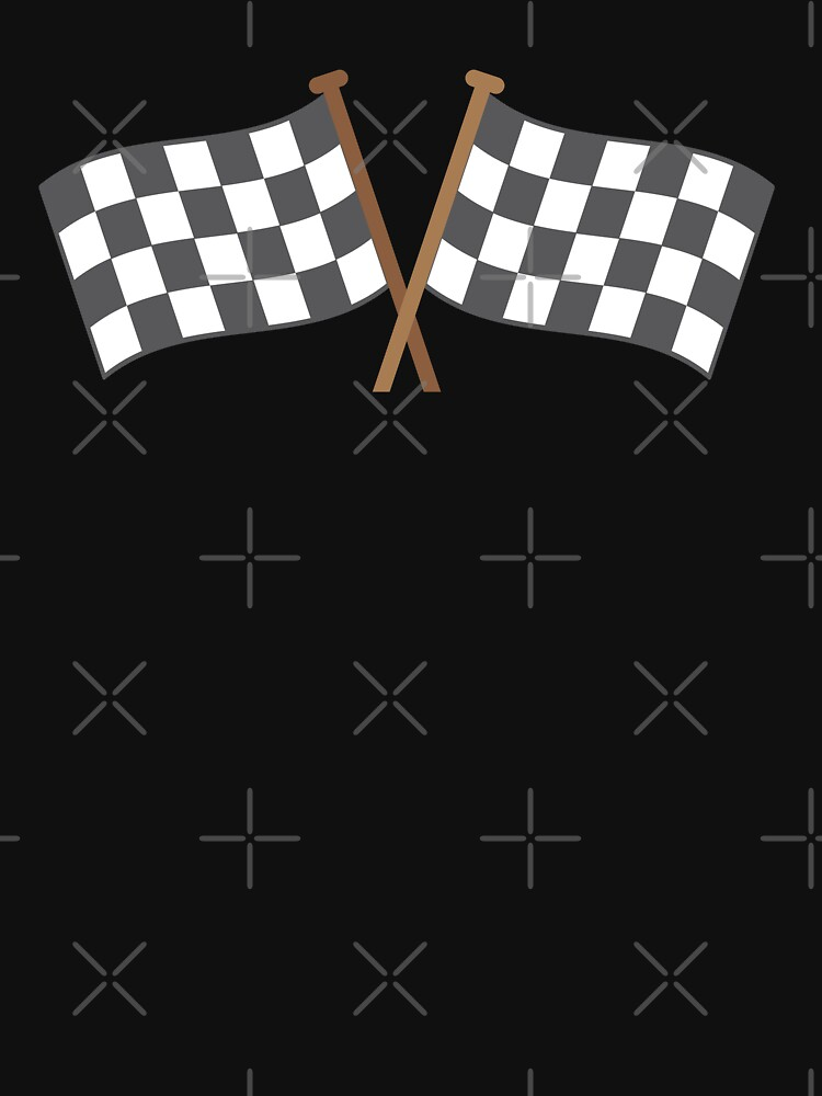 Checkered flagged crossed finish line race by jazzydevil