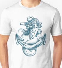 Mermaid on the Anchor Unisex T-Shirt