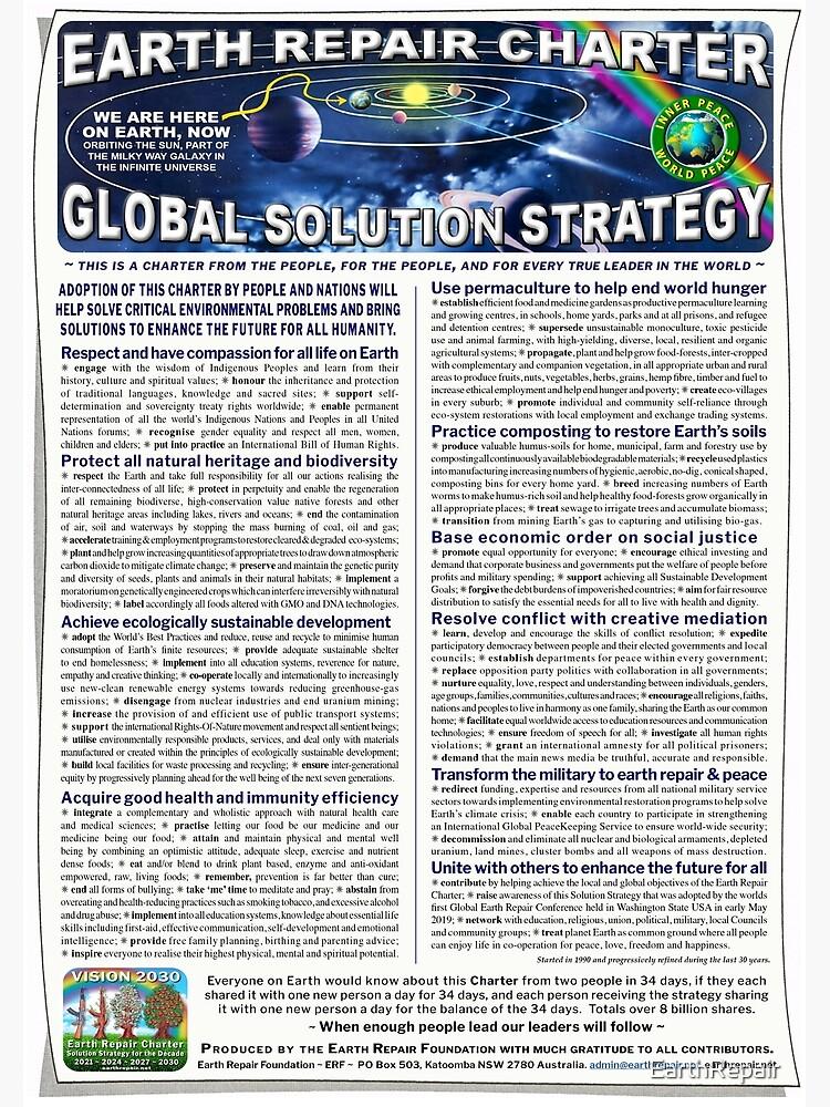 Earth Repair Charter Global Solution Strategy by EarthRepair