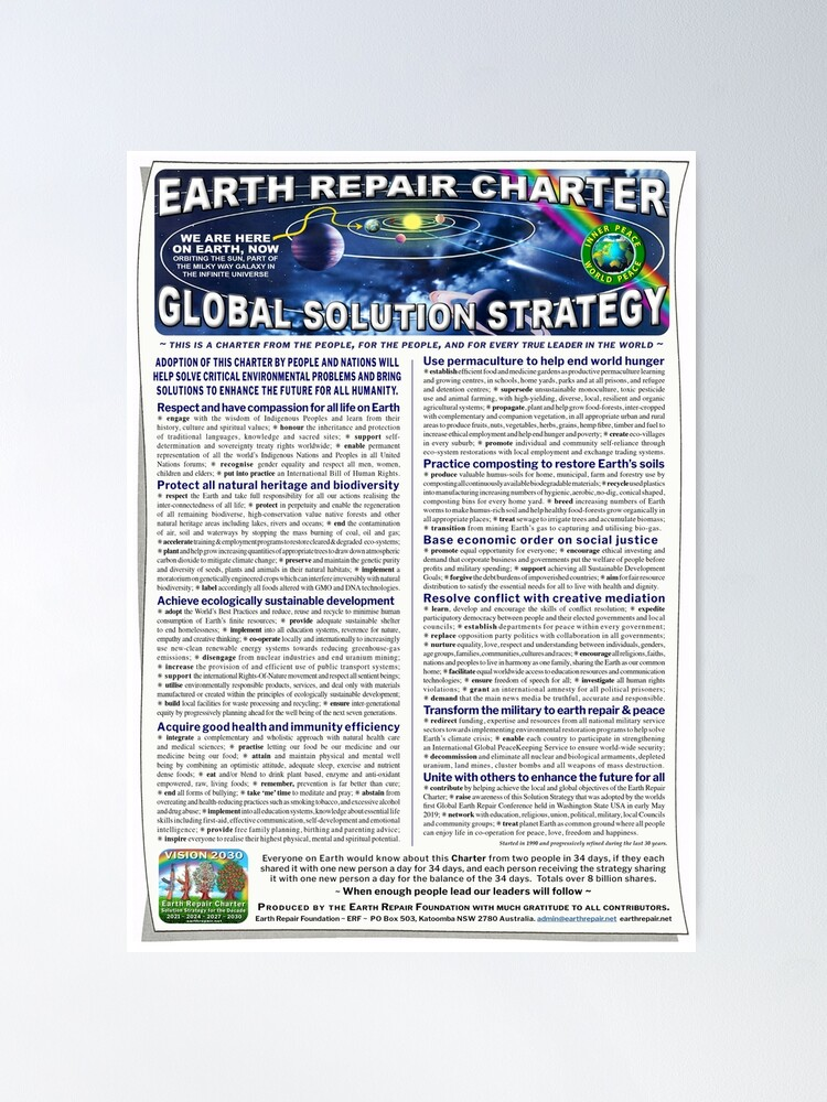 Alternate view of Earth Repair Charter Global Solution Strategy Poster