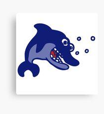 dauphin poisson cartoon humour Canvas Print