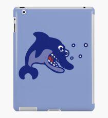 dauphin poisson cartoon humour iPad Case/Skin