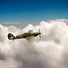 Hawker Hurricane above clouds by Gary Eason