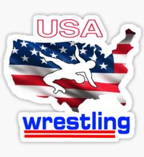 USA Flag Team Wrestling Sticker