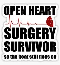 Open Heart Surgery Survivor Sticker