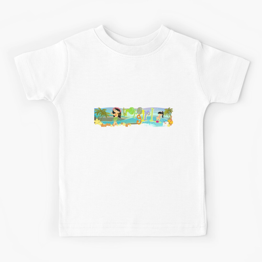 TropoGirl - Swaying and Playing in Paradise Kids T-Shirt