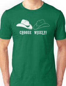 Black Hat or White Hat Unisex T-Shirt
