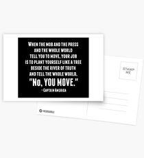 """""""No, You Move."""" Postcards"""