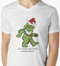 Don't Tell me this Grinch aint got no heart Men's V-Neck T-Shirt