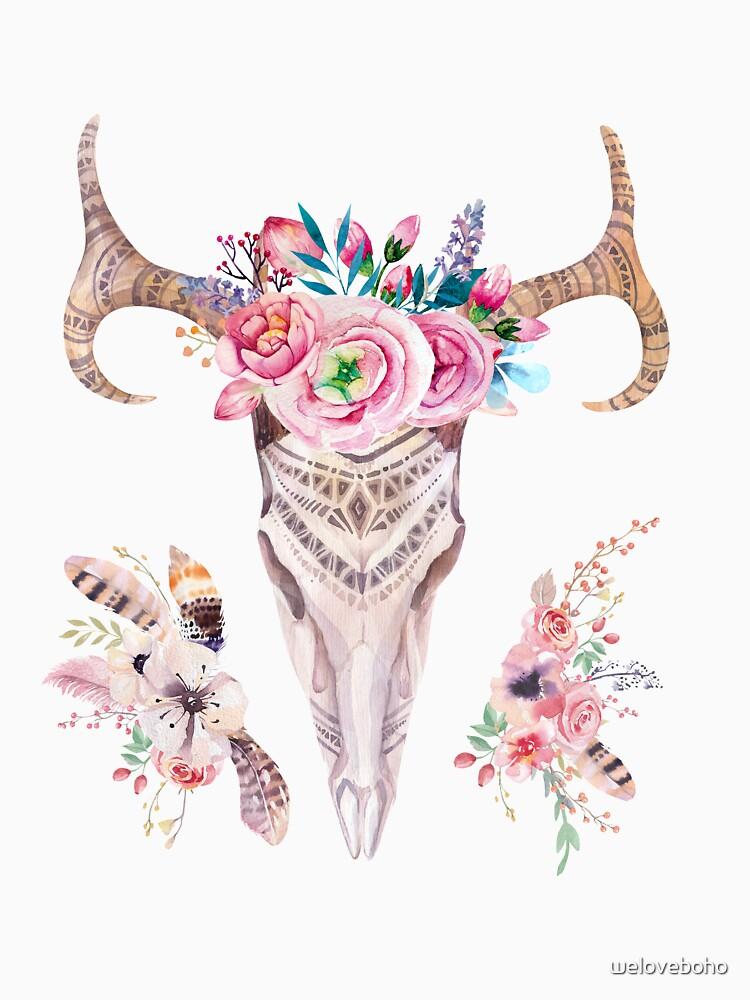 Floral deer skull de weloveboho