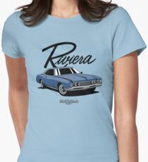 Buick Riviera (49487) '1966 (blue) Womens Fitted T-Shirt