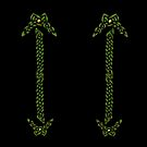 Celtic Knotwork - Gold and Green by Rose Gerard
