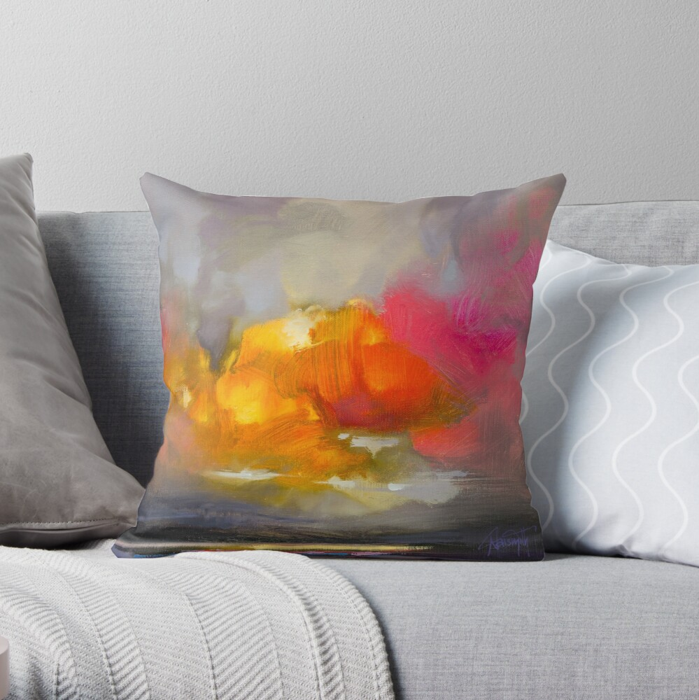 Cumulus Rose Study 2 Throw Pillow
