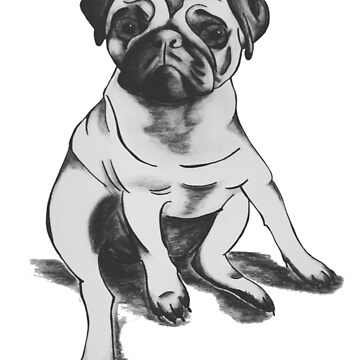 lonely pug by ventenart