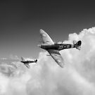 222 Squadron Spitfires B&W version by Gary Eason