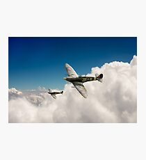 222 Squadron Spitfires Photographic Print