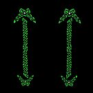 Celtic Knotwork - Silver and Green by Rose Gerard