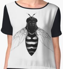 Flying Bee - insect illustration Women's Chiffon Top