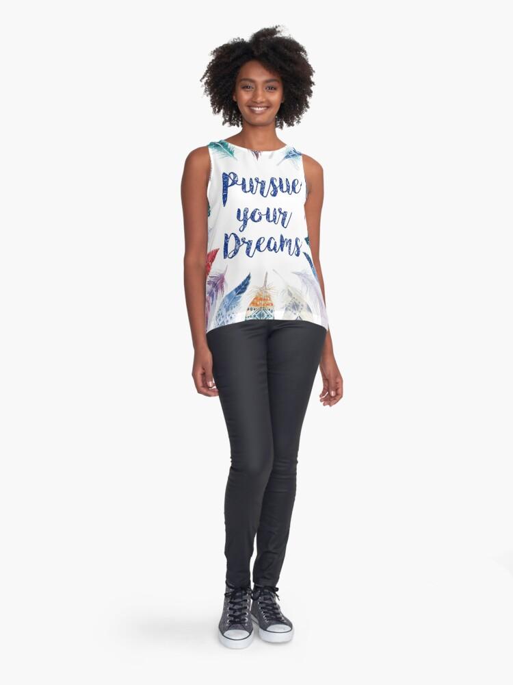 Vista alternativa de Blusa sin mangas Feathers, Pursue your dreams