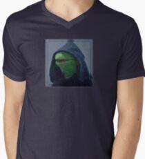 Hooded Kermit Meme (Evil Kermit Meme) T-Shirts, Hoodies, Stickers Men's V-Neck T-Shirt