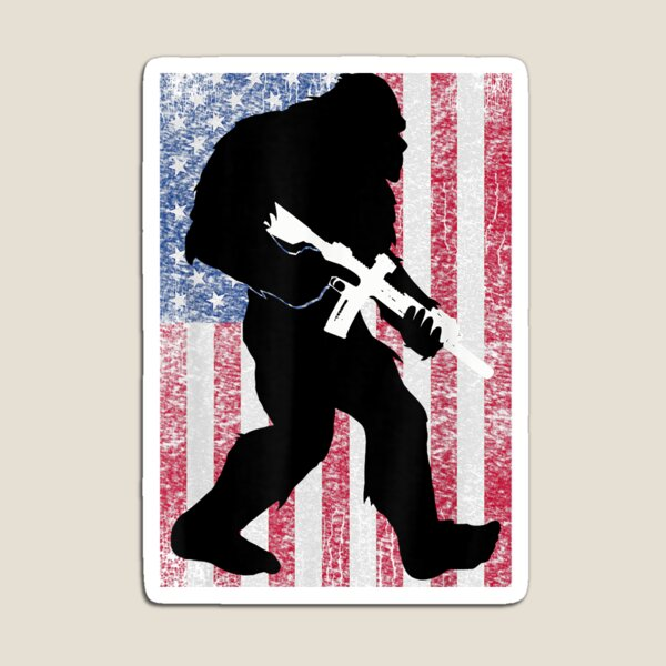 Bigfoot 2nd Amendment Right to Bear Arms for Gun Owner Magnet