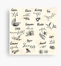 The Chemistry of Food Canvas Print