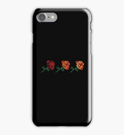 Three cute roses iPhone Case/Skin