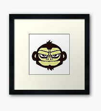 gorille cartoon tête humour Framed Print