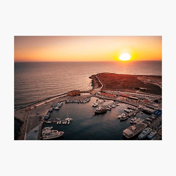 Paphos Sunset Cyprus Photographic Print