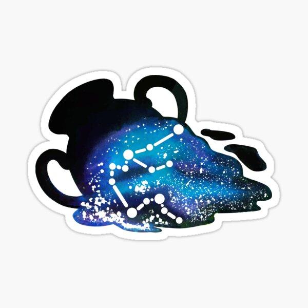 Aquarius Zodiac Constellation Sticker
