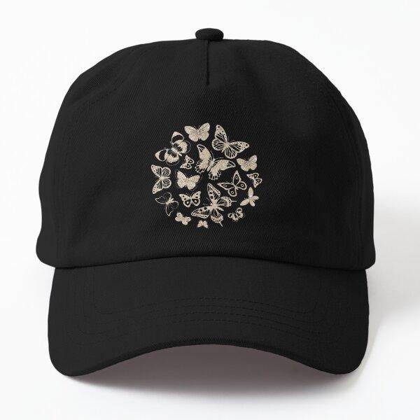 Beige Glitter Sparkle Pattern Dad Hat