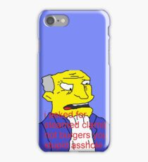 Didnt ask for burgers iPhone Case/Skin