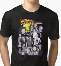 dazed and confused character collage art Tri-blend T-Shirt