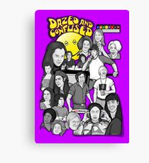 dazed and confused character collage art Canvas Print