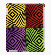 Colorful optical illusion with squares  iPad Case/Skin