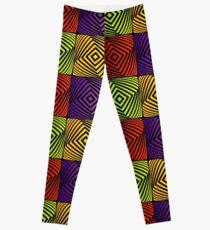 Colorful optical illusion with squares  Leggings
