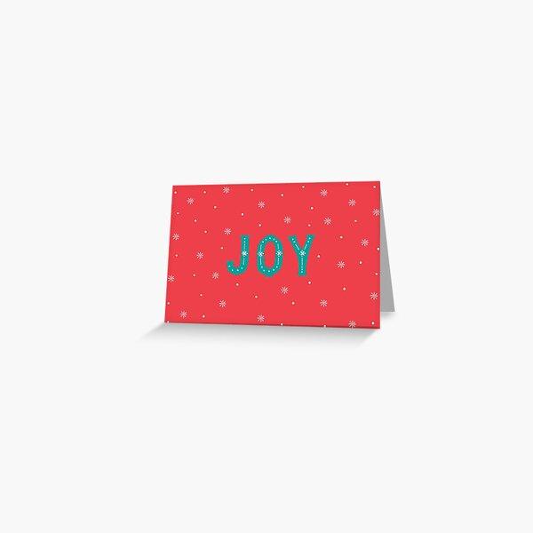 Christmas design hand lettering Joy Greeting Card