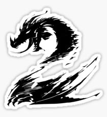 Dragon GW2 Black Sticker