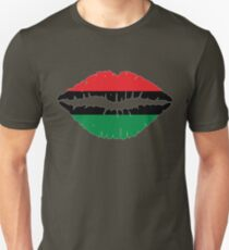 Afro-American flag Lips T-Shirt