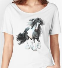 Prince, Gypsy Vanner Horse Women's Relaxed Fit T-Shirt