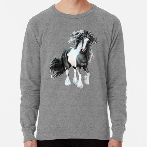 Prince, Gypsy Vanner Horse Lightweight Sweatshirt